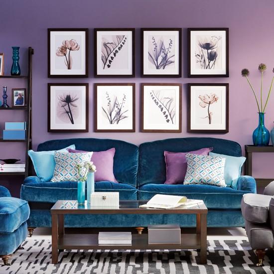Blue Room: Peacock Blue Living Room