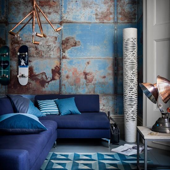 Blue Interior Design Ideas: Royal Blue Living Room
