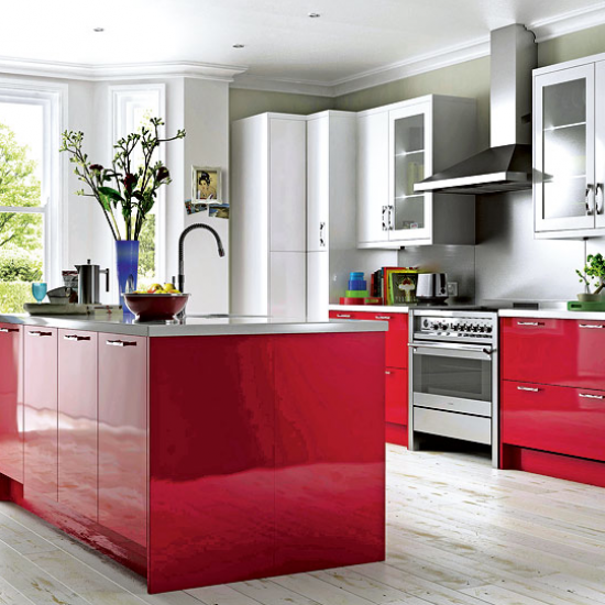 B Q Kitchen Cabinets Sale: Cooke & Lewis High Gloss Red Kitchen From B&Q