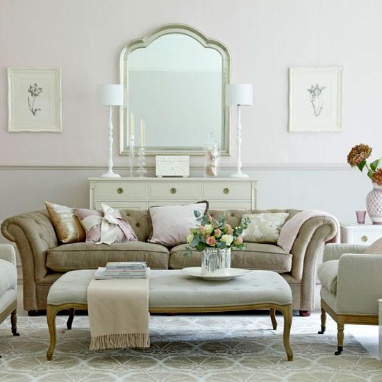 4 Elegant All Grey Living Rooms: Elegant Pink And Grey Living Room
