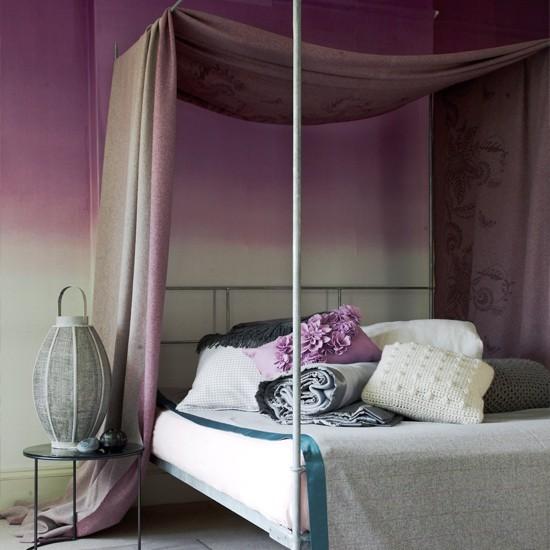 Ideas For Purple Bedroom: Glamorous Bedroom Decorating Ideas
