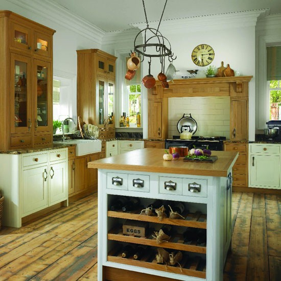Two Tone Kitchen Cabinets Oak: Two-tone Country Kitchen