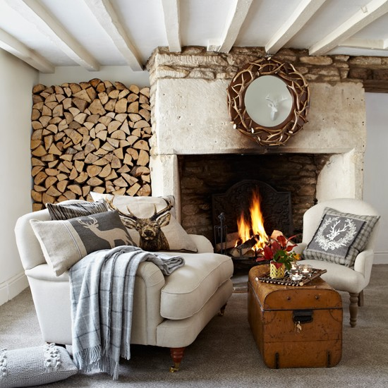 Rustic Living Room Decorating Ideas: Rustic Country Living Room