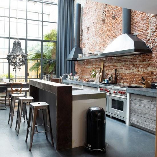 Rustic kitchen modern kitchen - Industrial modern kitchen designs ...