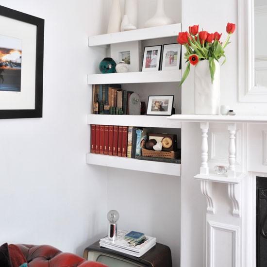 Alcove floating shelves shelving ideas - Living room shelf ideas ...