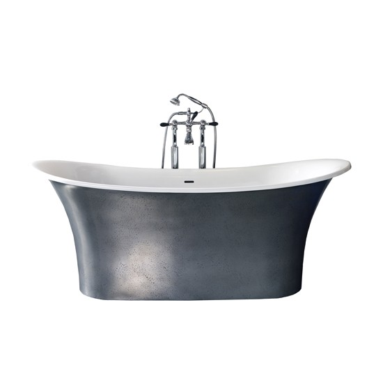 Grey Country Bathroom With Rolltop Bath: Toulouse Bath From Victoria + Albert