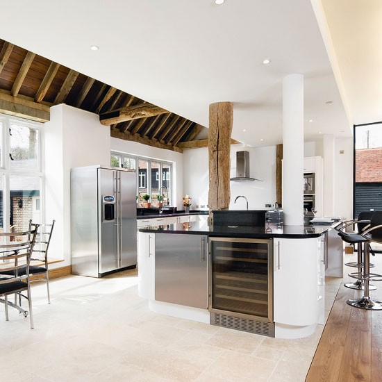 Rustic Kitchen Extension With Modern Fittings
