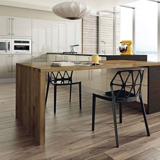 Kitchen Island Table: Modern Kitchen With Island Table