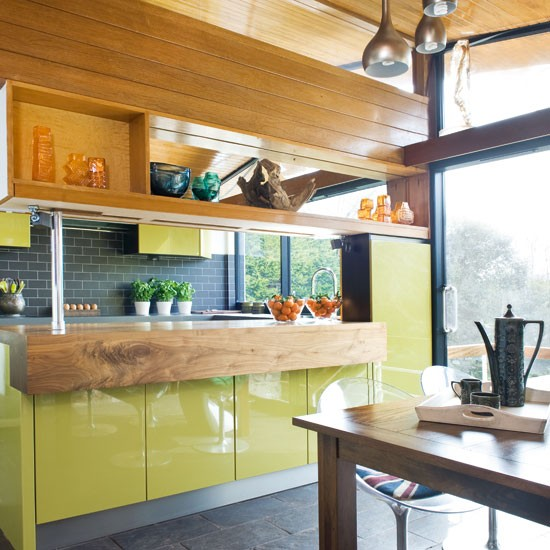 step inside a quirky green retroinspired kitchen