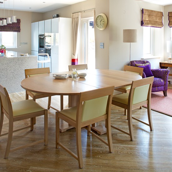 Casual Dining Rooms Decorating Ideas For A Soothing Interior: Relaxing Open-plan Dining Room