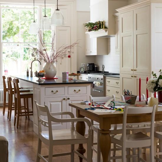 Housetohome Co Uk: Cream And Wood Kitchen-diner