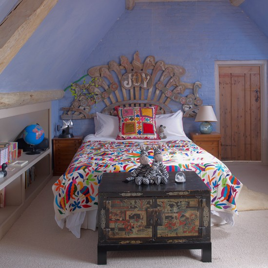 Ideas For Home Garden Bedroom: Colourful And Quirky Girls' Bedroom