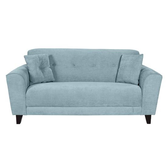 Duck Egg Blue Leather Sofa