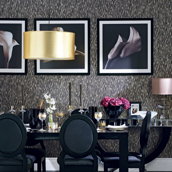 Glamorous Black And Gold Dining Room Housetohome Co Uk