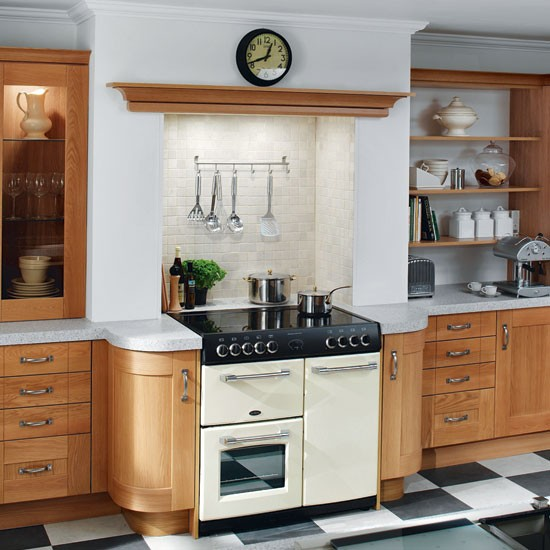 Country-style Galley Kitchen