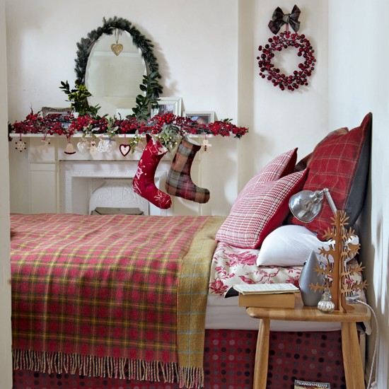 Red Tartan Guest Bedroom