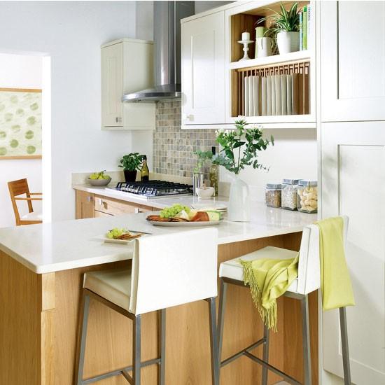 Small Kitchen Design Ideas Uk: Shaker-style Kitchen Integrated Breakfast Bar