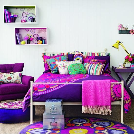 Fun Girl Room: Teenage Girls' Bedroom Ideas