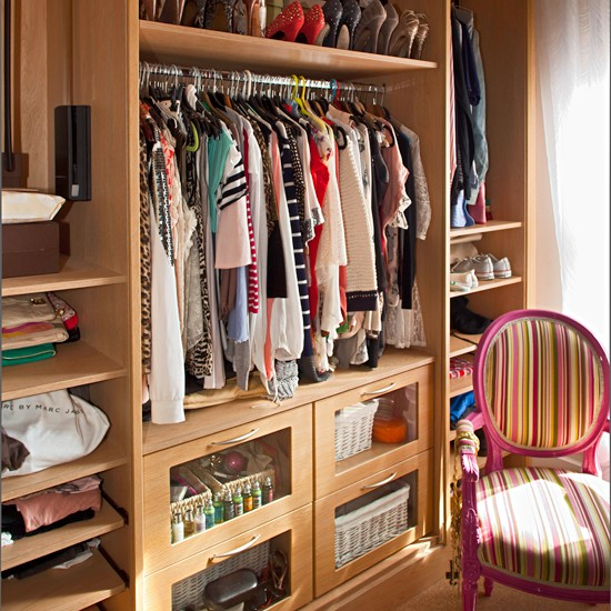 Practical dressing room storage - Dressing room designs in the home ...