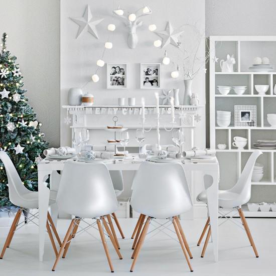 Housetohome Co Uk: Winter White Festive Dining Room