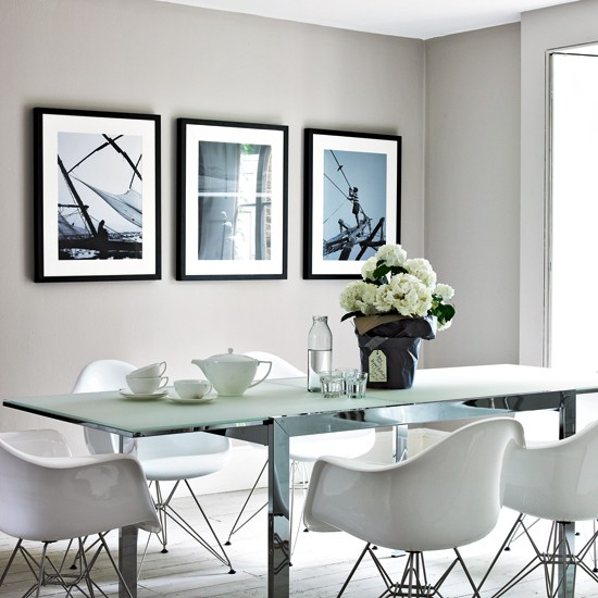 Cool Dining Room: Cool Grey Dining Room