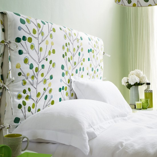 Fern green and white bedroom | housetohome.co.uk