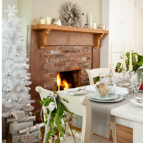 Sage Green Dining Room: Sage And White Festive Dining Room