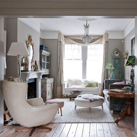 Small Eclectic Living Rooms: Neutral Eclectic Living Room