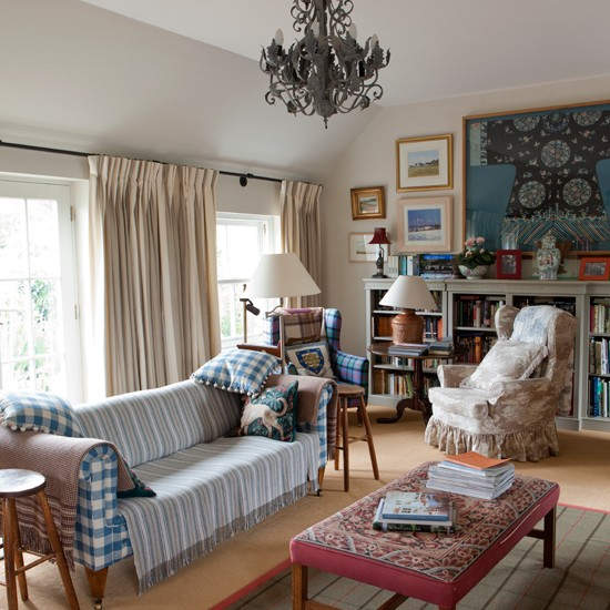 Small Eclectic Living Rooms: Eclectic Tartan Living Room
