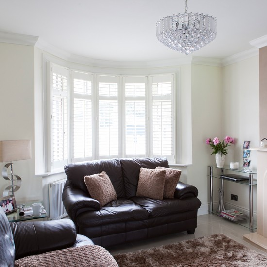 Beautiful Cream Living Room: Cream And Leather Living Room
