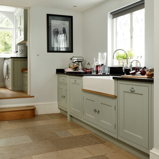 Country Style Kitchens: Pale Blue Country-style Kitchen