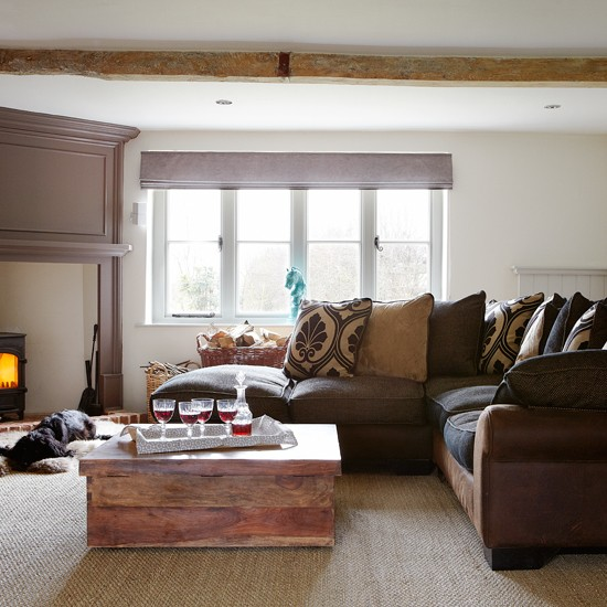 Warm Rustic Living Room Ideas: Warm And Cosy Living Room