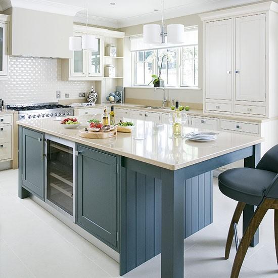 Painted Kitchen Island Ideas: Traditional Kitchen Design Ideas