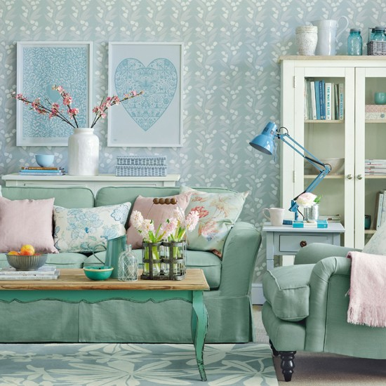 Calming green living room pastel colour schemes - Green colour schemes for living rooms ...