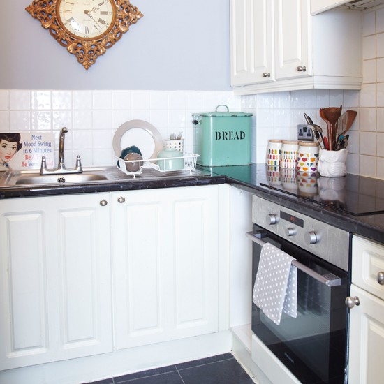 Grey And White Kitchens: Small Grey And White Kitchen