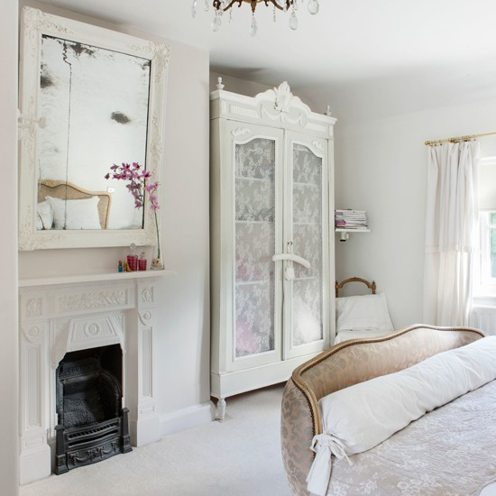 Off White Bedroom: French-style Pretty Bedroom In Pure White