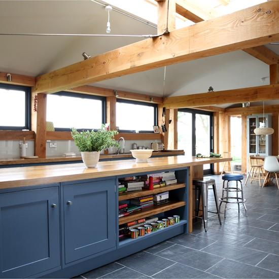 Wooden Kitchen Cabinets Uk: Farmhouse Slate And Wood Kitchen