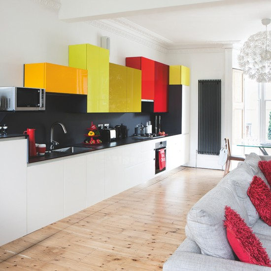 Modern Kitchen With Building Block Wall Units