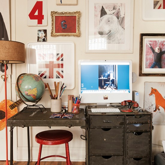 Eclectic Home Decor Ideas: Fun And Eclectic Home Office