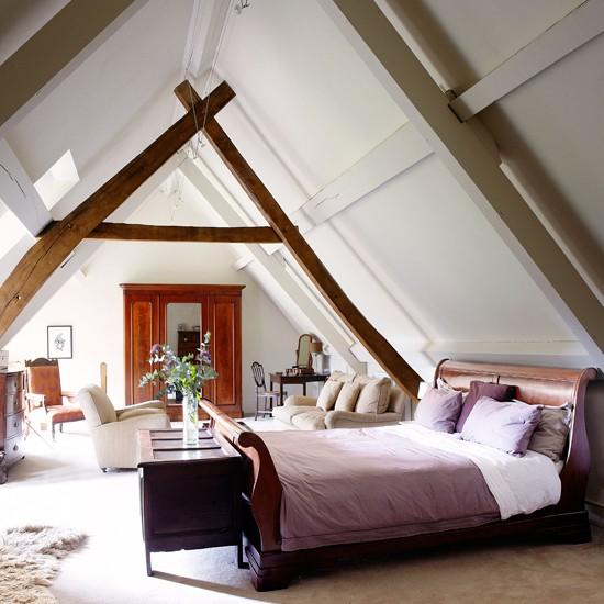 Housetohome Co Uk: Neutral Country Loft Bedroom