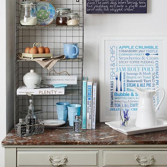 country kitchen with wire storage unit kitchen. Black Bedroom Furniture Sets. Home Design Ideas