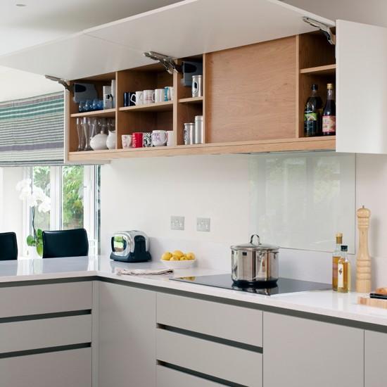 White Modern Kitchen Wall Cupboard