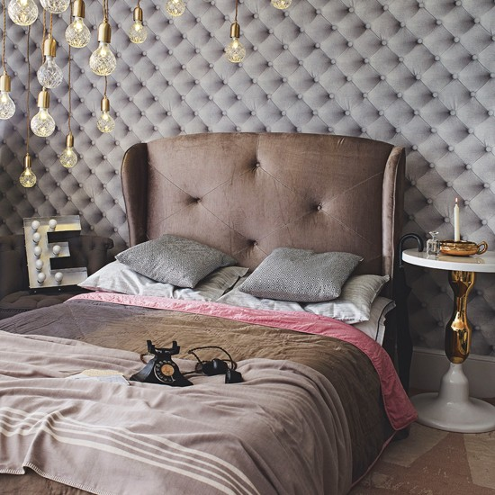Luxurious Grey Velvet Bedroom