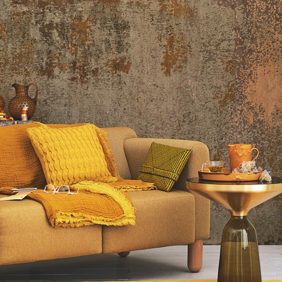 Yellow And Mustard Living Room