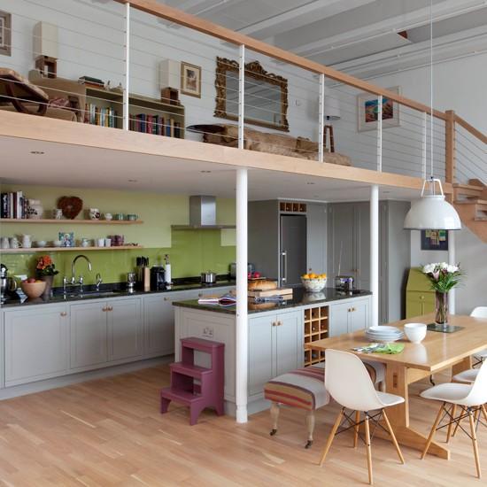 Wood Open Plan Kitchen Desings: Open-plan Wood Kitchen-diner