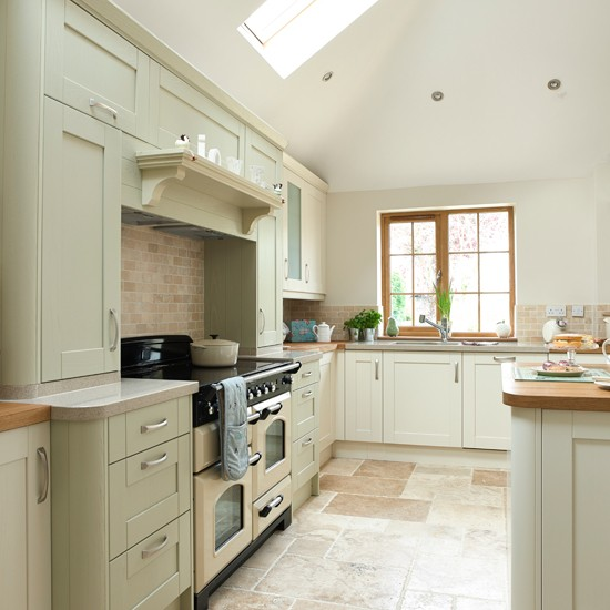 Green Kitchen: Sage Green And Cream Kitchen
