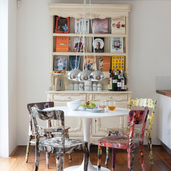 Eclectic Dining Room Tables: Eclectic Dining Room With Hand-painted Chairs