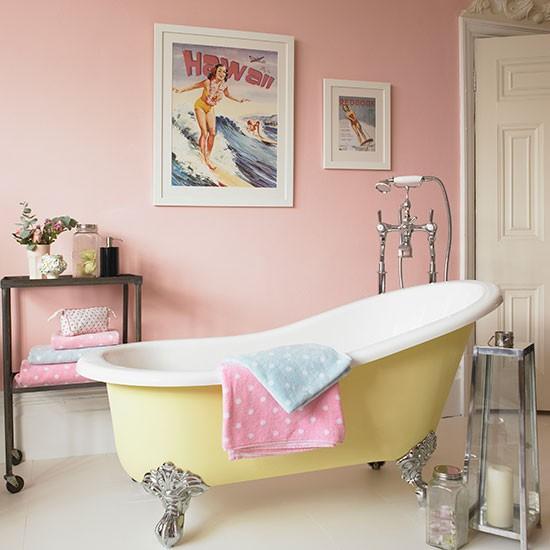1950s Style Pastel Bathroom Country Bathroom Ideas