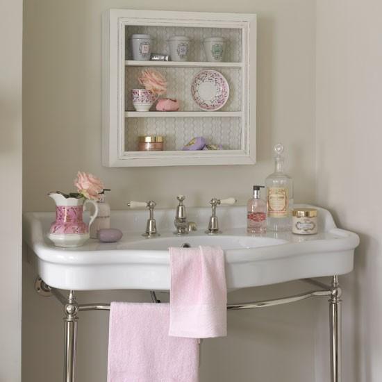 Country Bathroom Wall Storage
