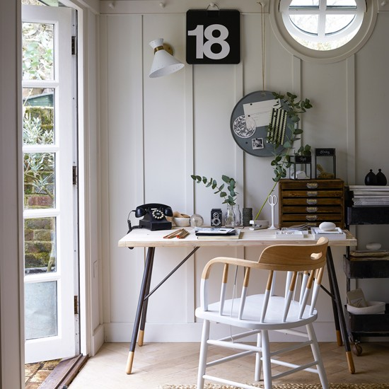 Best Rustic Home Office Design Ideas Remodel Pictures: French Vintage Design Room